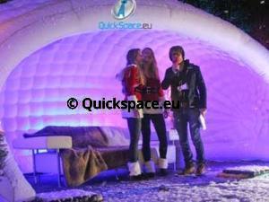 Nafukovací dóm Inflatable Dome s DJ Giel Beelenem pro event Nordkapp Challenge