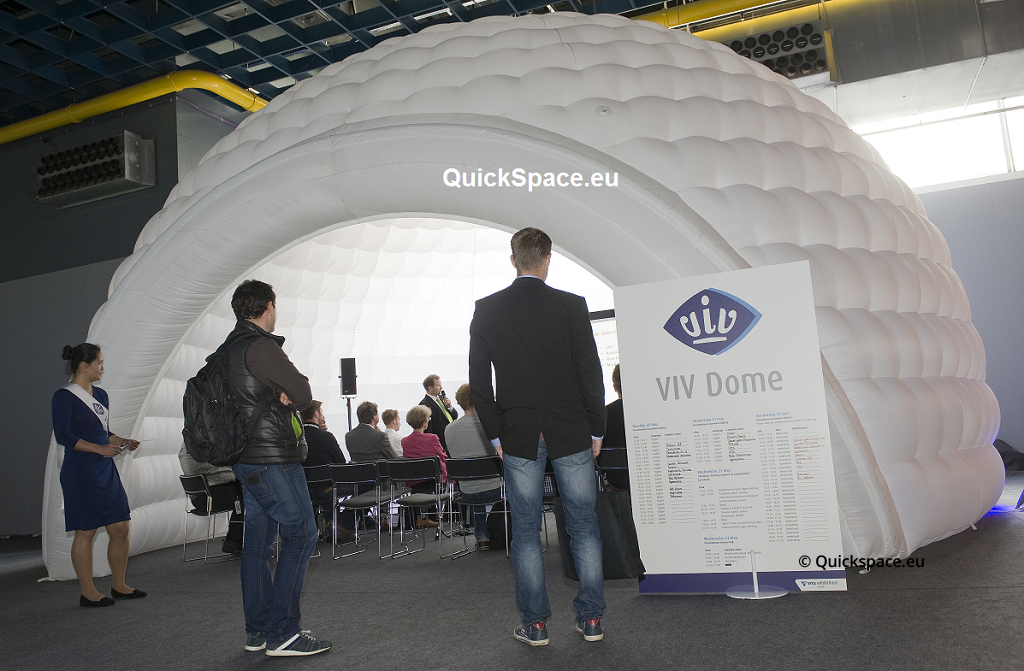 QuickSpace Dome 8m, realizace v Jaarbeurs, Utrecht